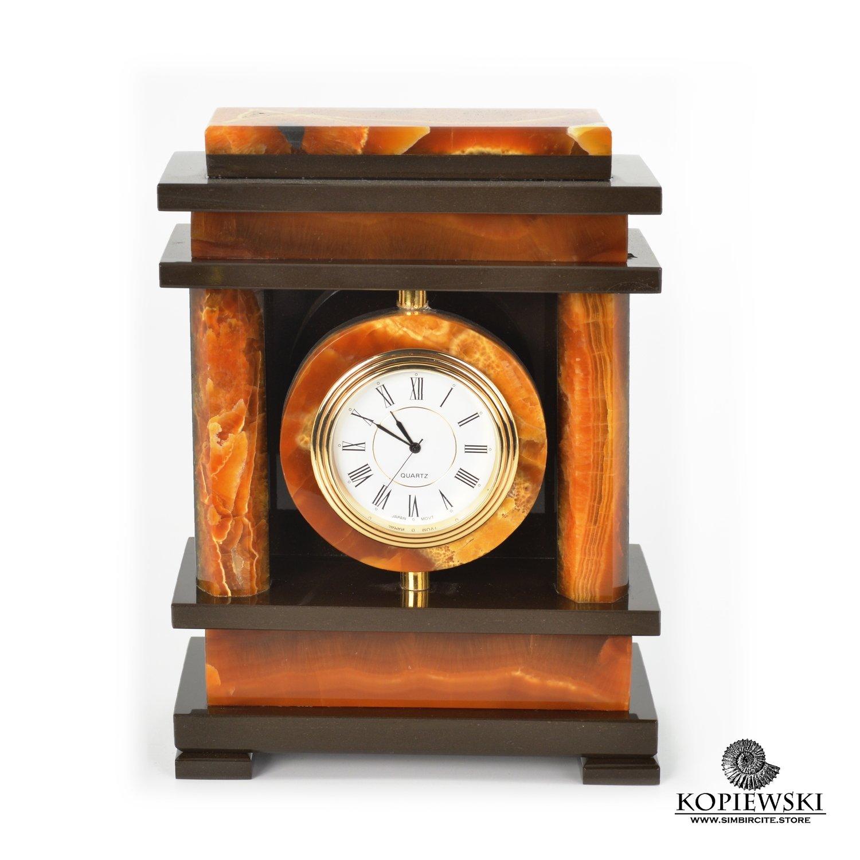 """Каминные часы """"Ампир"""" из Симбирцита"""