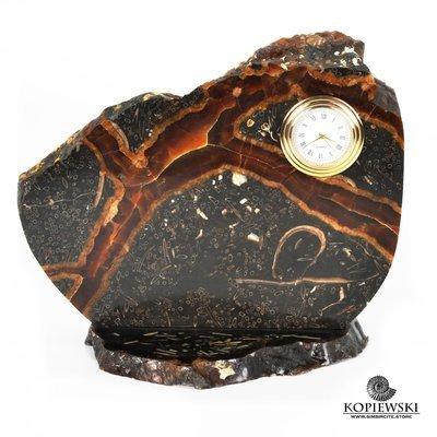Часы срез симбирцита 19*16,5 см