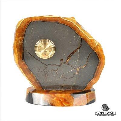 Часы срез симбирцита 18*17 см