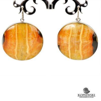 Серьги c натуральным камнем Симбирцит