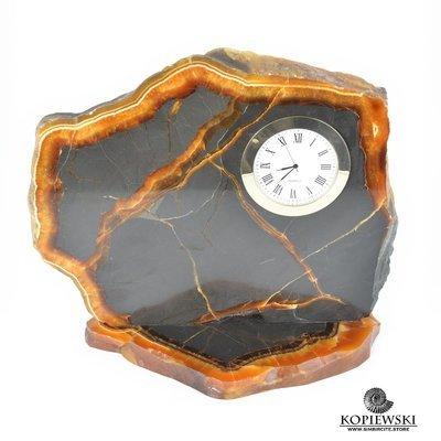 Часы срез симбирцита 22.5*19.5 см