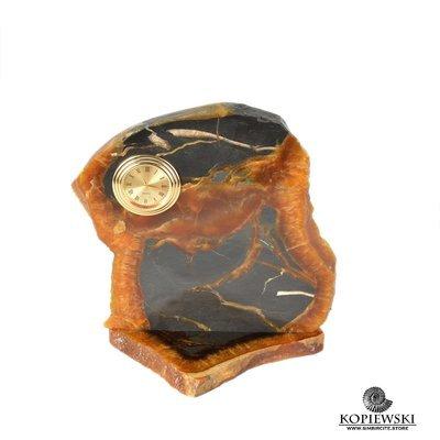 Часы срез симбирцита 16.5*13.5 см