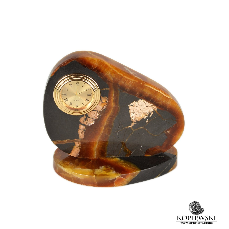 Часы срез симбирцита 12*11.5 см