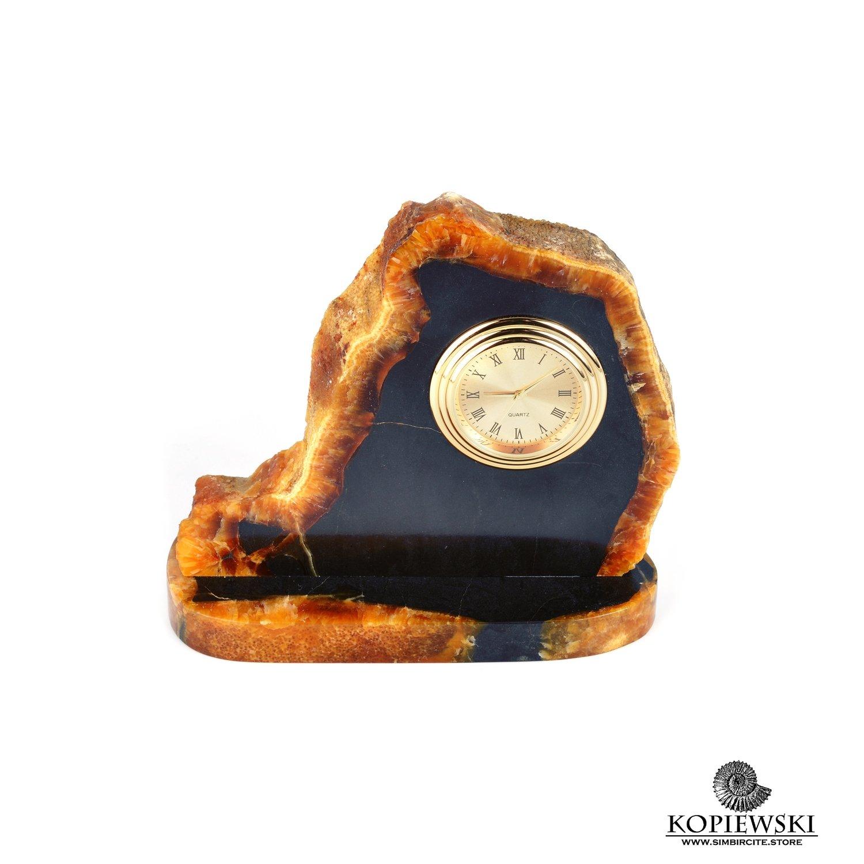 Часы срез симбирцита 16 x 14 cm