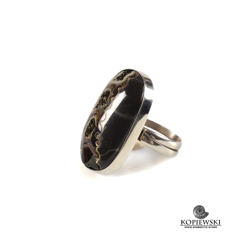 Кольцо с Аммонитовой жеодой