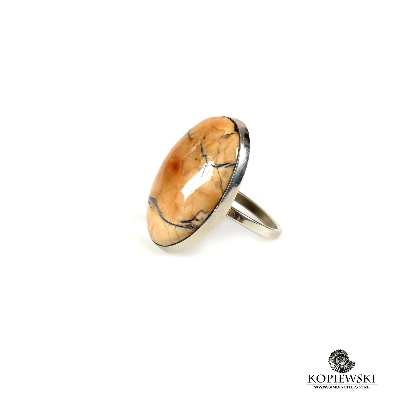 Кольцо с Аммонитовым симбирцитом