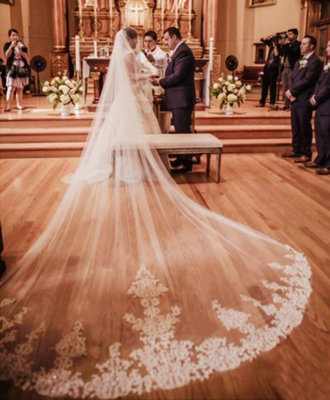 4m/13 ft White/Ivory 1T layer cathedral  long wedding bridal veil with comb
