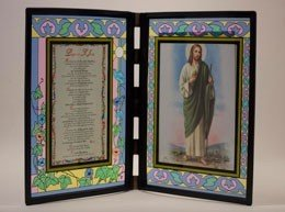Placa de San Judas en vidrio (Español)