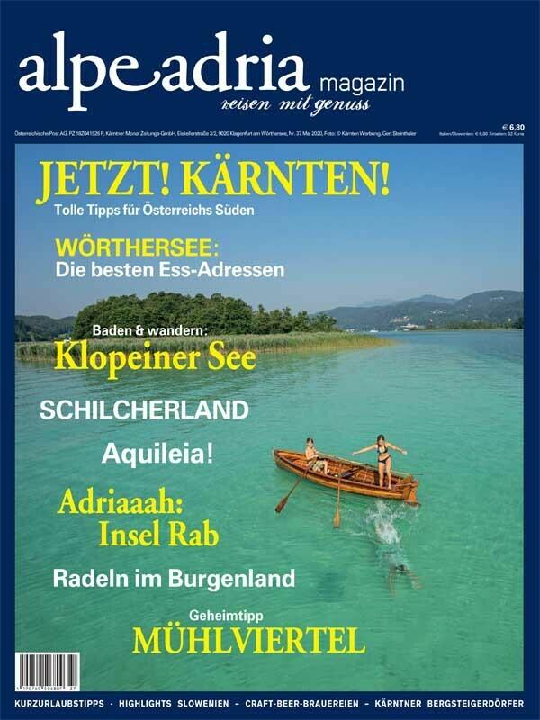 Aktuelle gedruckte Einzelausgabe Alpe Adria Magazin Dtl.