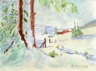 Art - Lang, Cunrong - Snow in December