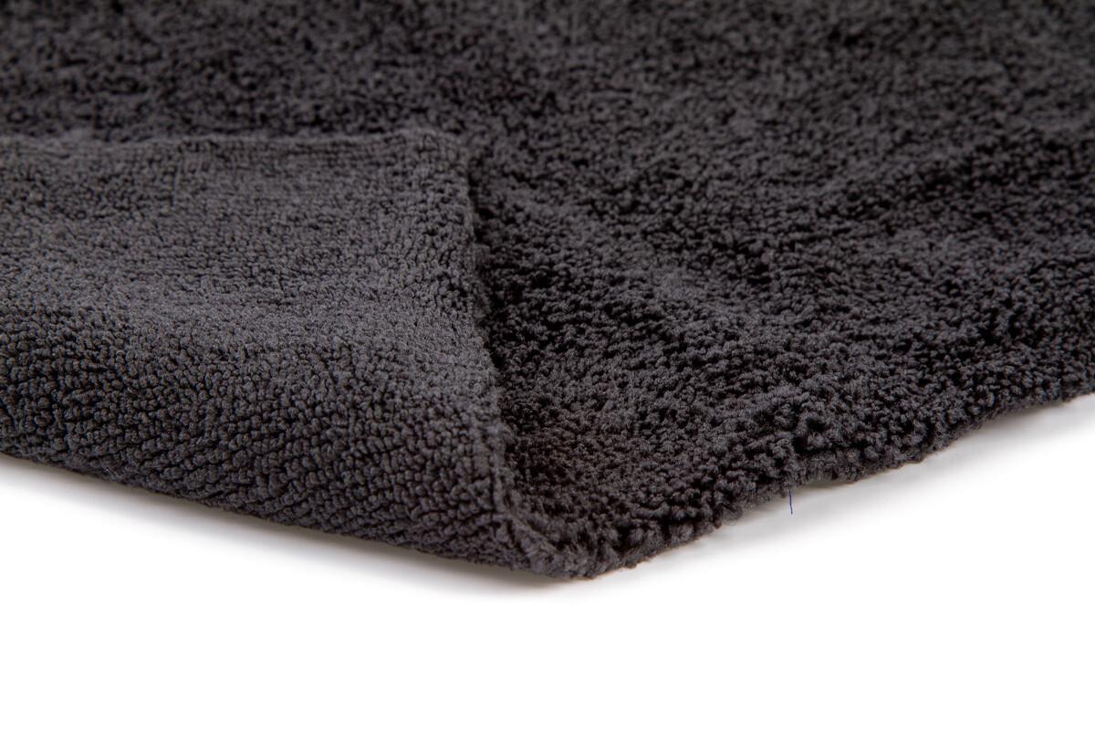 Полотенце микрофибровое 40x40 с УЗ обрезкой, 400 гр., (черное)