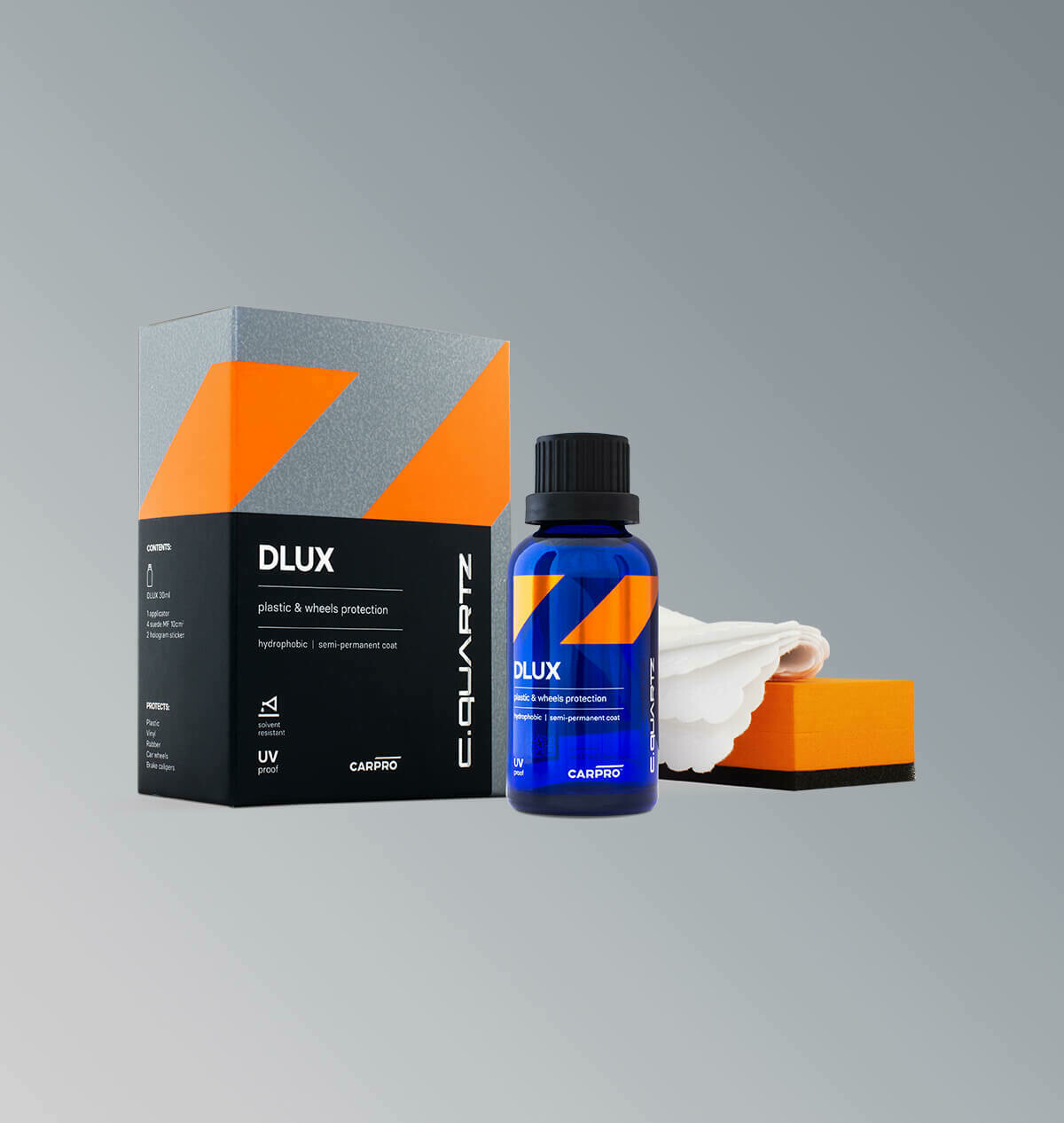 Car Pro cquartz DLUX 30мл Kit- Защитное покрытие для дисков и пластика
