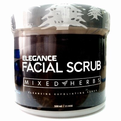 Elegance Facial Scrub Mixed Herbs Intensive Nutrition - Скраб для лица Смесь трав Питающий 500 мл