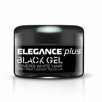 Elegance Plus Covers White Hair Gel Black - Гель для окрашивания седых волос 100 мл