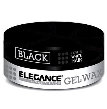 Elegance Black Gel Wax - Гель Воск для камуфляжа седины на темных волосах 140 гр