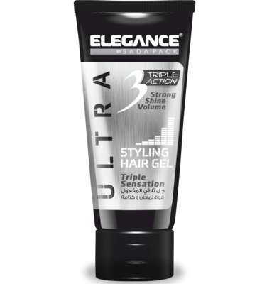 Elegance Triple Action Gel White - Гель для волос тройного действия 150 мл