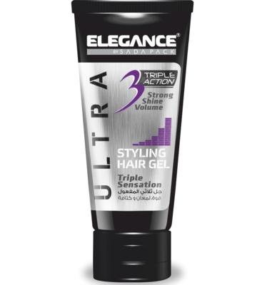 Elegance Triple Action Gel Purple - Гель для волос тройного действия 150 мл