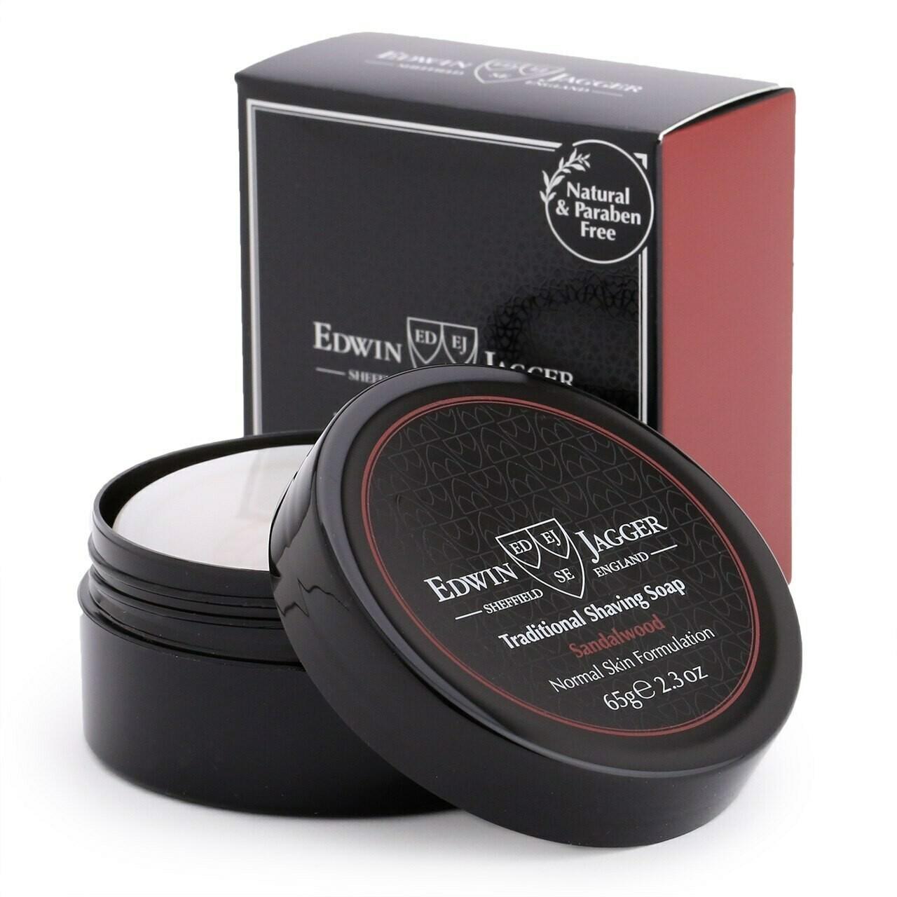 Edwin Jagger Sandalwood (Travel Container) - Мыло для бритья, 65 гр