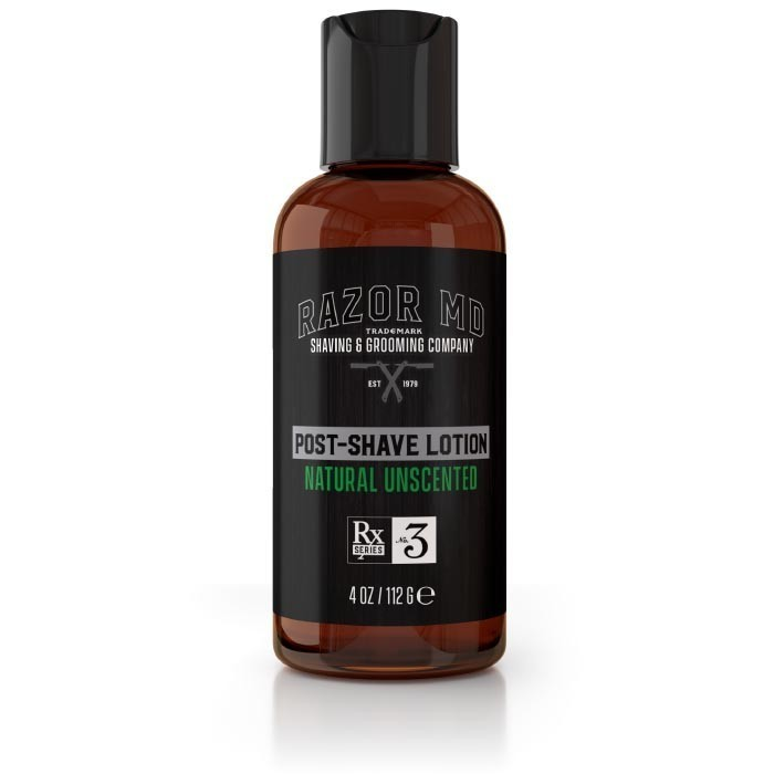 Razor MD Post Shave Lotion Natural Unscented - Лосьон после бритья без запаха 120 мл