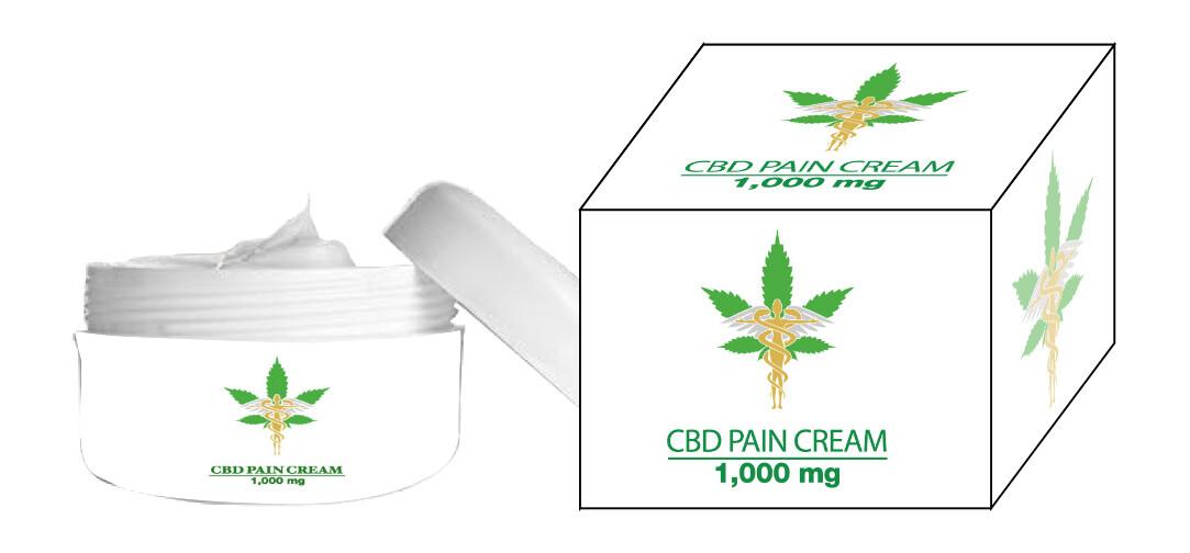 1000 MG CBD PAIN CREAM 2 OUNCE JAR BUY TWO GET ONE FREE