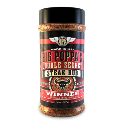Big Poppa Smokers Double Secret Steak Rub