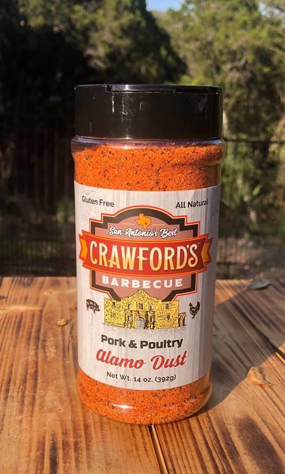 Crawfords BBQ- Pork & Poultry- Alamo Dust