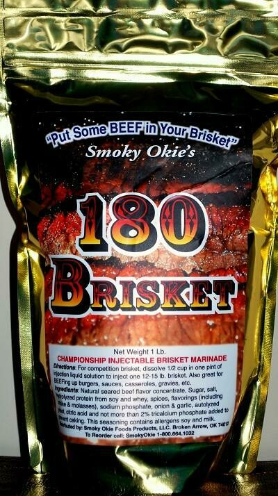Smoky Okie's 180 Brisket, 1lb Bag
