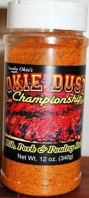Smoky Okie's Okie Dust Rib Pork and Poultry Seasoning, 12 oz