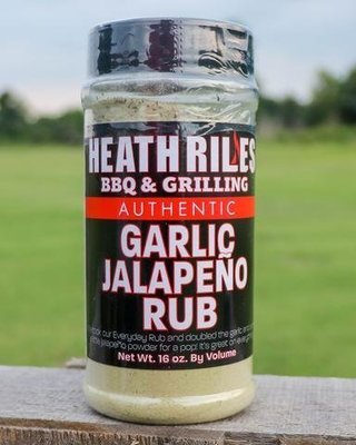 Heath Riles- BBQ Garlic Jalapeno Rub-16oz
