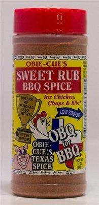 Obie-Cue's Sweet Rub BBQ Spice 12 oz.
