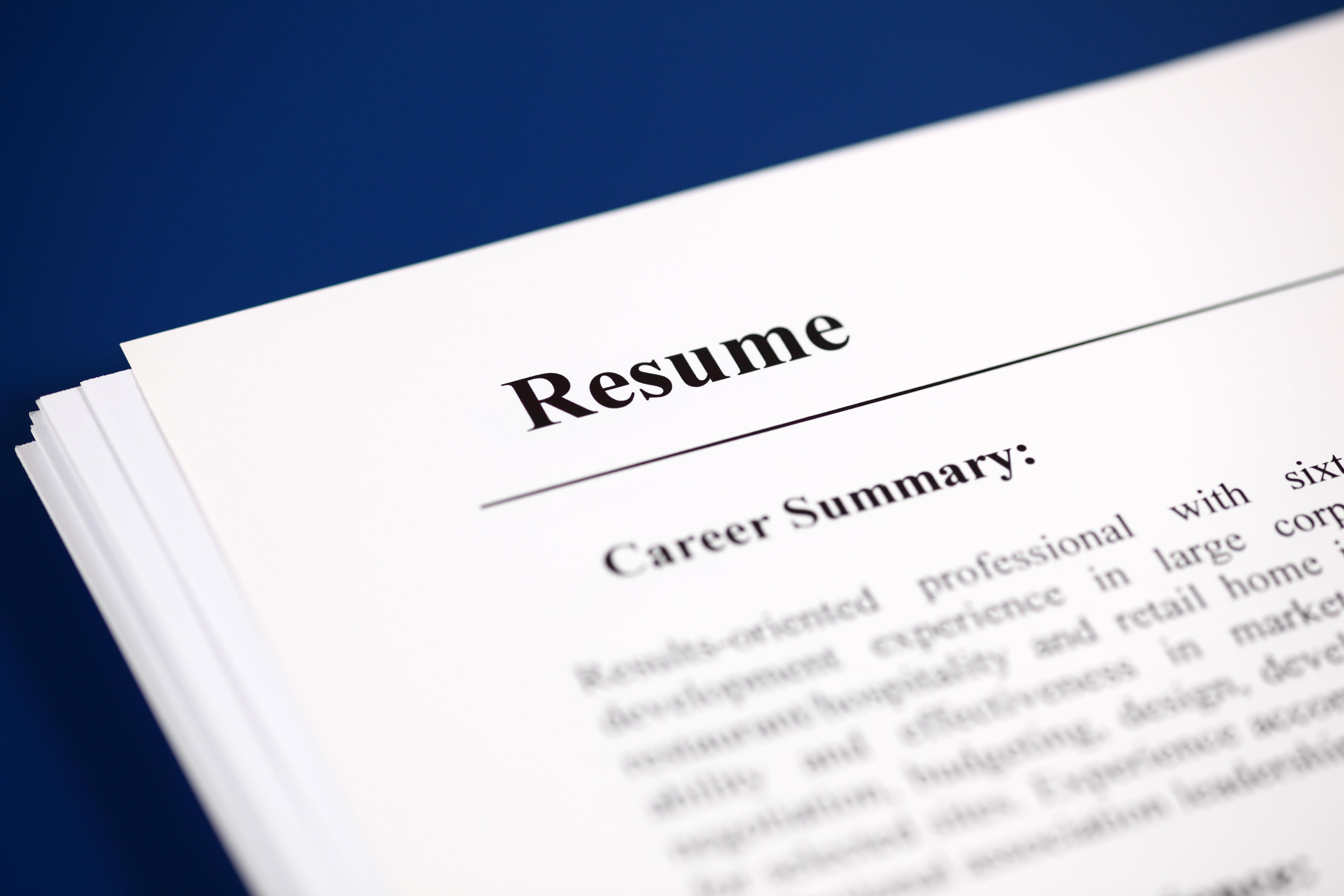 Technical Resume 00004