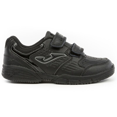 Double Velcro Trainer (Size 10 to 2) (JR912 BLK)