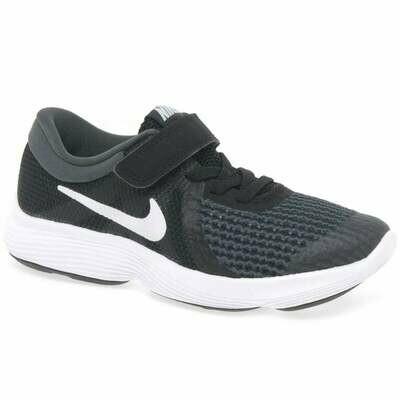 Nike 'Revolution'' in Black/White (Size 10 to 6.5)