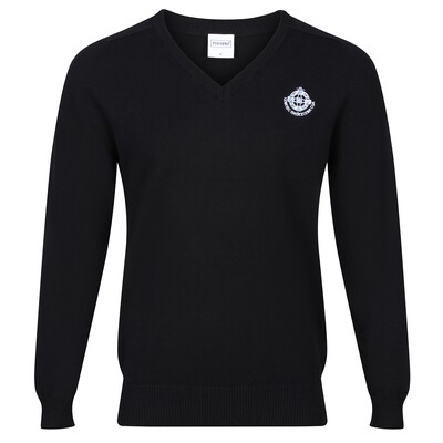 St Columba's High Knitted V-neck (no stripe)