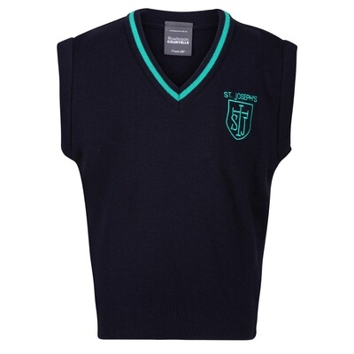 St Joseph's Primary Knitted Tank Top with stripe