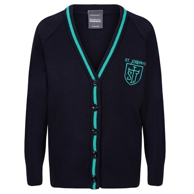 St Joseph's Primary Knitted Cardigan with stripe