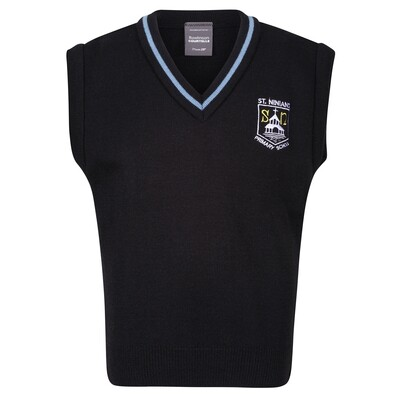 St Ninian's Primary Knitted Tank Top with stripe