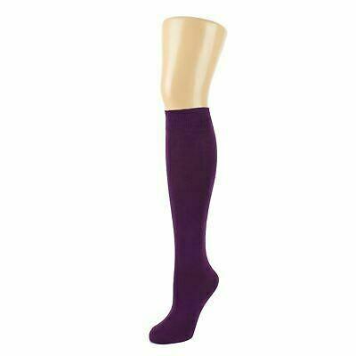 Girls Knee High Socks by Pex in Purple (2 Pair Packs) (From Age 4) 'Best Seller'