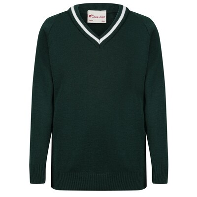 St Columba's School Knitted 'Wool' V-Neck Jumper