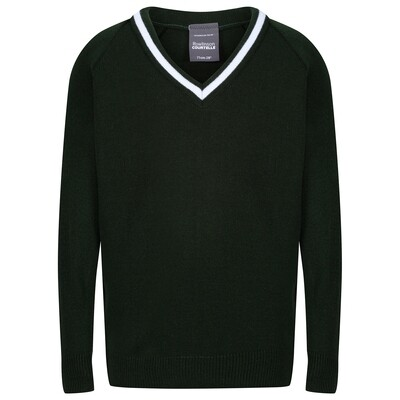 St Columba's School Knitted 'Acrylic' V-Neck Jumper 'Best Seller'