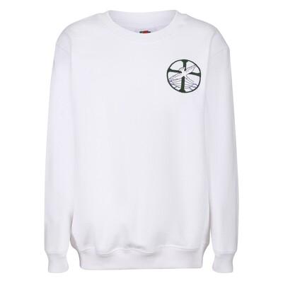 St Columba's Junior School Girls PE Sweatshirt in White (Girls Early Years-J3)