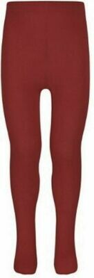 Cotton Tights in Maroon by Pex (2 Pair Pack) (From Age 4) 'Best Seller'