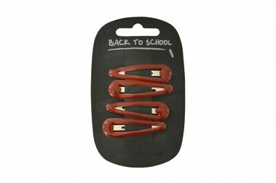 Click Clack Hair Clips (Packs of 4) (In Maroon)