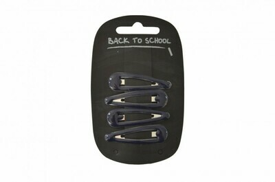Click Clack Hair Clips (Packs of 4) (In Navy)