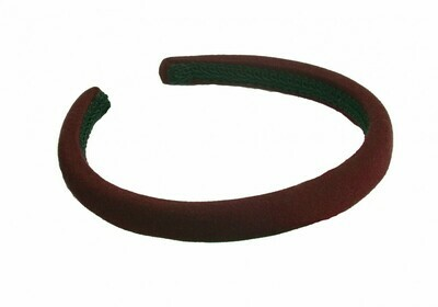 Velvet Alice Band (In Maroon)