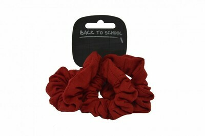 Scrunchies (Pack of 3) (In Maroon)