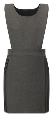 Bib Top Pinafore in Grey (From Age 4-5)