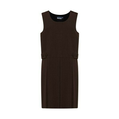 Box Pleat Pinafore In Brown (From Age 4-5)