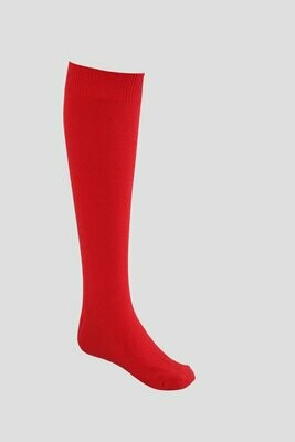 Girls Knee High Socks by Pex in Red (2 Pair Packs) (From Age 4) 'Best Seller'