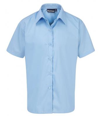 Short Sleeve Blouse for Girls in Blue